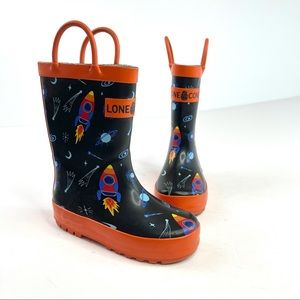 Lone Cone Outer Space Rain Boots